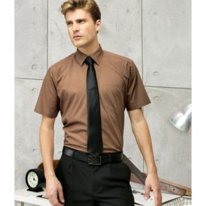PR202 MENS Short sleeve poplin shirt Thumbnail